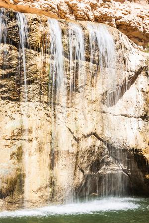 mountain oasis: Waterfall in mountain oasis Chebika, Tunisia, Africa