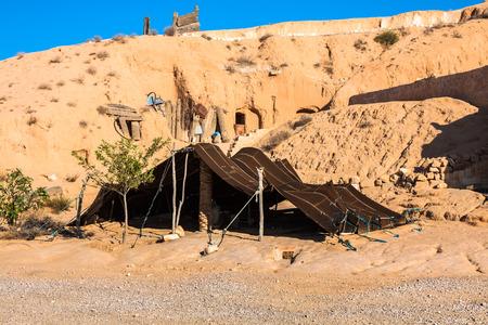 matmata: A Berber tent in Matmata, Tunisia,Africa