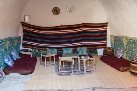 matmata: Cave house in matmata,Tunisia in the sahara desert Editorial
