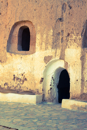 matmata: Cave house in matmata,Tunisia in the sahara desert Editorial