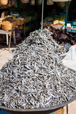 dry fish: Dry fish in the market in Tunisia