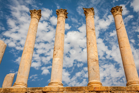 Thuburbo majus, Tunisia a few of the remaining pillars which once builded the Capitol photo