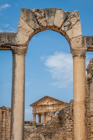 architrave: Dougga, Roman Ruins