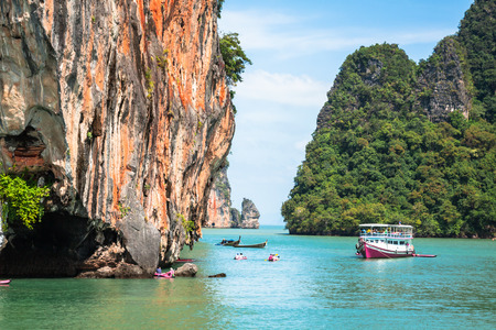 Landscapes of Phang Nga National Park in Thailand Stock Photo