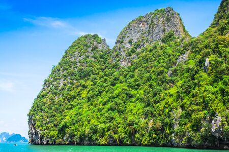 james bond's island: Beautiful scenery of Phang Nga National Park in Thailand