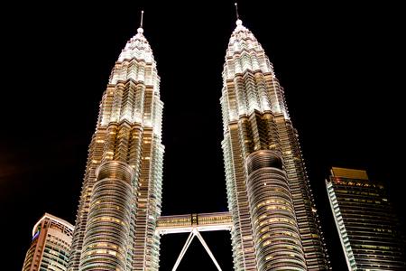 Kuala Lumpur,Malaysia,December 19,2013:The Petronas Towers in Kuala Lumpur, Malaysia
