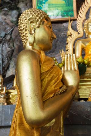 transcendental: Buddha statues on the tiger cave temple near krabi ,thailand Stock Photo