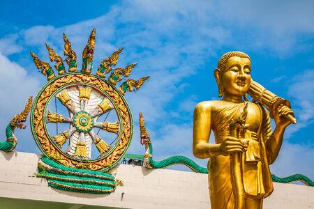 Statue of the buddha in Krabi,Thailand photo
