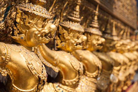 Golden Garuda of Wat Phra Kaew at Bangkok, Thailand photo