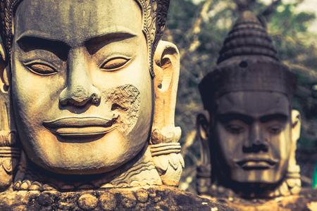 Face. Angkor Wat Angkor Thom. Cambodia photo
