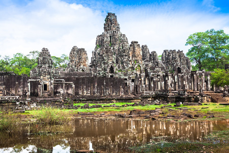 Bayon Temple in Angkor Thom, Cambodia photo