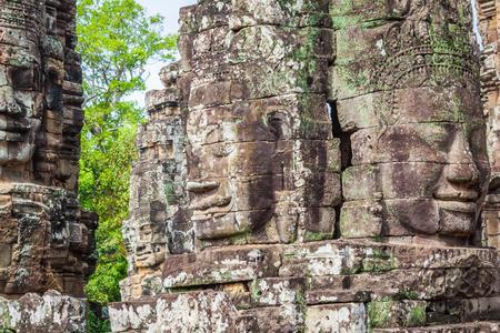 murals: Stone murals and sculptures in Angkor wat, Cambodia Stock Photo