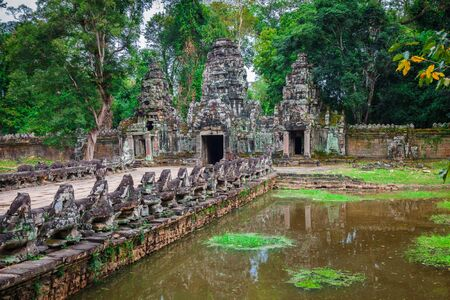Preah Khan temple, Angkor area, Siem Reap, Cambodia photo
