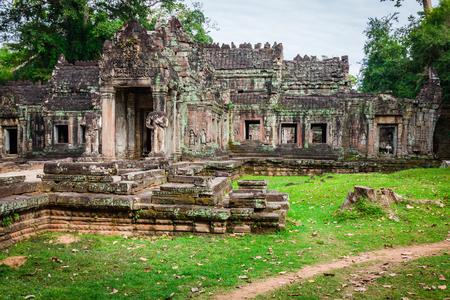 khan: Ruins of Pra Khan Temple in Angkor Thom of Cambodia