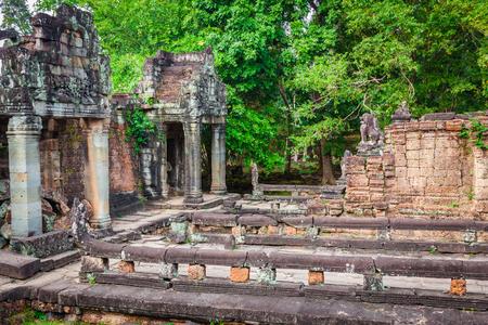 pra: Ruins of Pra Khan Temple in Angkor Thom of Cambodia