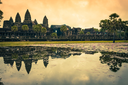 reap: Angkor Wat Temple, Siem reap, Cambodia. Stock Photo