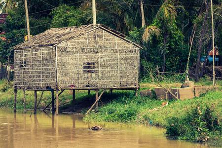 sap: Typical House on the Tonle sap lake,Cambodia. Stock Photo