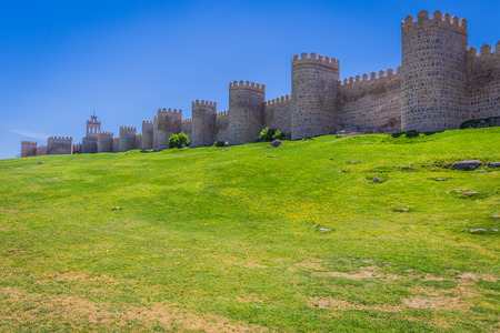 unesco: Scenic medieval city walls of Avila, Spain, UNESCO list