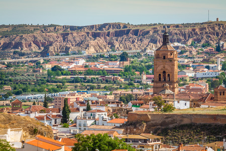andalucia: Guadix, villages in the province of Granada Andalucia, Southern Spain Stock Photo