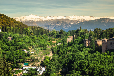 the  alhambra: View of the famous Alhambra, Granada, Spain.