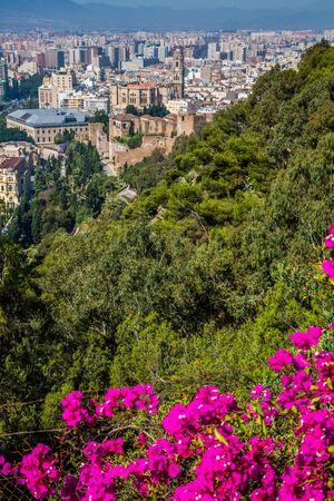 malaga: Panorama of Malaga, Spain Stock Photo