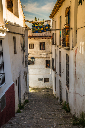 spanish houses: Traditional spanish architecture. Spanish buildings, houses, street view, traditional street in Spain.