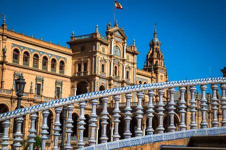 spain: Spanish Square (Plaza de Espana) in Sevilla, Spain