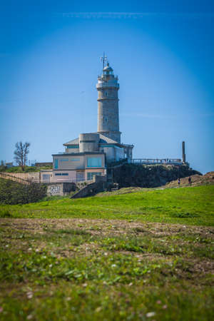 mayor: Lighthouse of Cabo Mayor. Santander. Spain