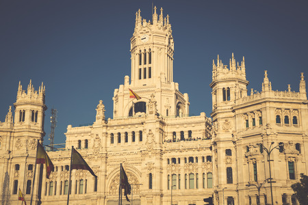 cibeles: Cibeles Palace is the most prominent of the buildings at the Plaza de Cibeles in Madrid, Spain. This impressive building is the Madrid City Hall.