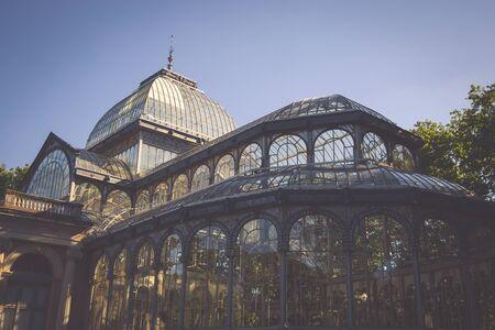 cristal: Crystal Palace (Palacio de cristal) in Retiro Park,Madrid, Spain. Editorial