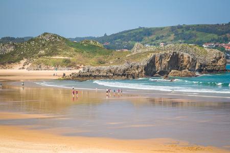 cantabria: Cuarezo beach in Noja. Santander. Cantabria. Spain. Europe.