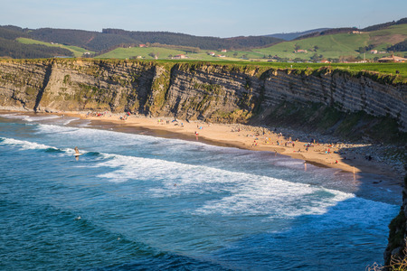 Beautiful Beach, Langre, Cantabria, Spain Stock Photo