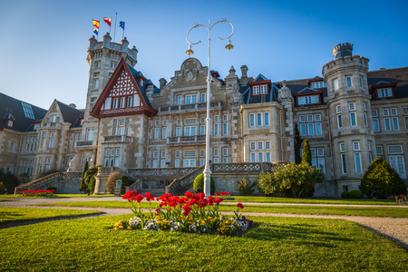 Nice Magdalena Palace in Santander, Spain 版權商用圖片
