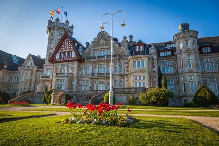 magdalena: Nice Magdalena Palace in Santander, Spain Stock Photo