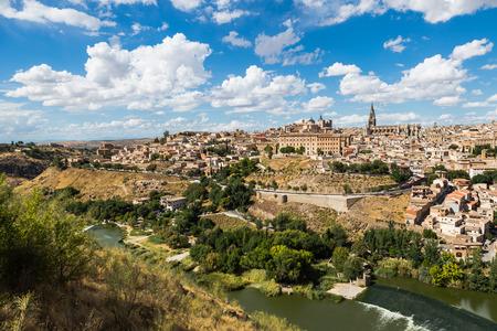 alcazar: Toledo, Spain old town cityscape at the Alcazar.