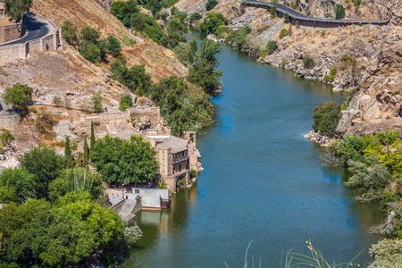 toledo town: Toledo, Spain town skyline on the Tagus River.