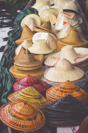 saduak: Damnoen Saduak floating market in Ratchaburi near Bangkok, Thailand Stock Photo