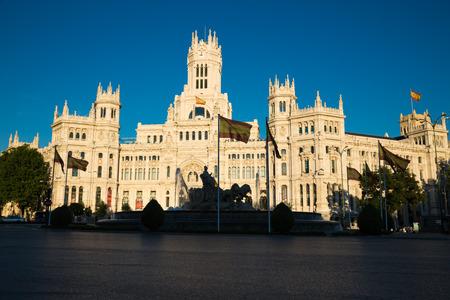 palacio de comunicaciones: Madrid, Spain - 15, JUNE,2014:Plaza de Cibeles, Madrid, Spain Editorial