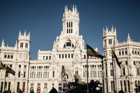 cibeles: Madrid, Spain - 15, JUNE,2014:Plaza de Cibeles, Madrid, Spain Editorial
