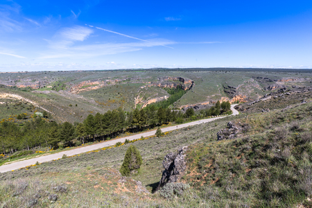castilla leon: Duraton canyon and Sepulveda. Segovia. Castilla Leon. Spain. Europe.