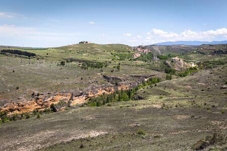 castille: Overview of Sepulveda, in the province of Segovia, Spain