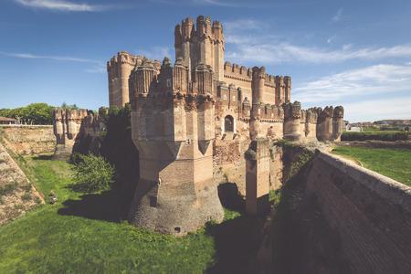 castilla y leon: Coca Castle, Segovia (Castilla y Leon), Spain.