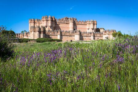 segovia: Coca Castle, Segovia (Castilla y Leon), Spain.
