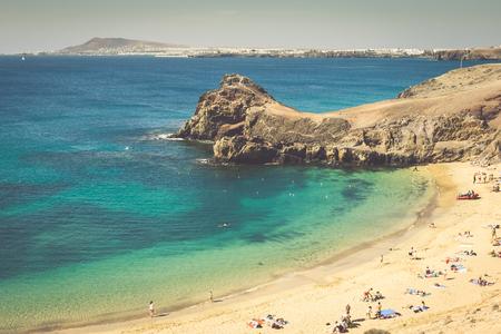 lanzarote: Papagayo Beach, Lanzarote, Canary Islands Stock Photo