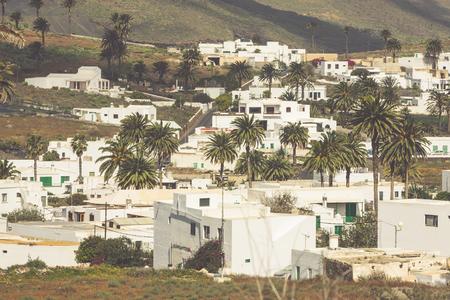 lanzarote: La Haria in Lanzarote - popular tourist destination. Stock Photo