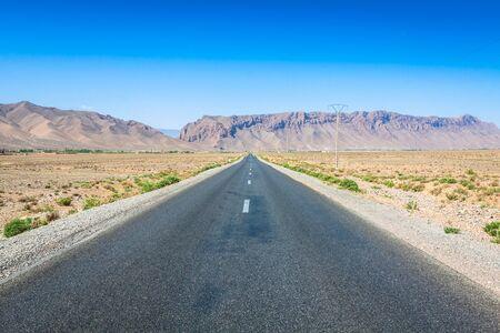 Desert road in Morocco Stock Photo