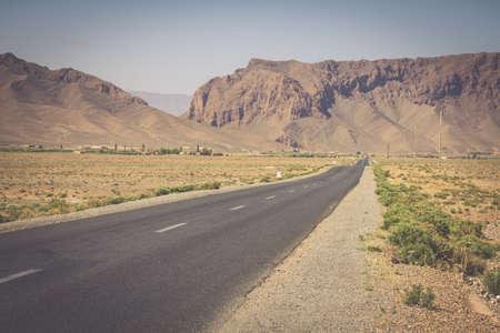 desert road: Desert road in Morocco Stock Photo