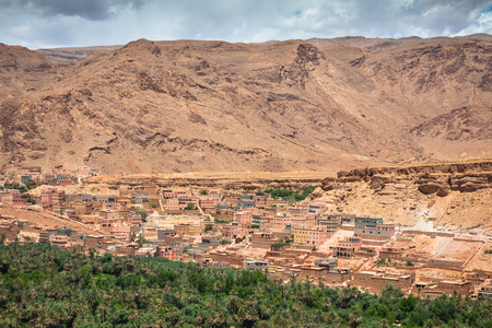 oasis: Town and oasis of Tinerhir, Morocco