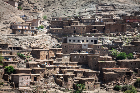 place of employment: Houses in the mountains close to Imlil in Toubkal National Park, Morocco