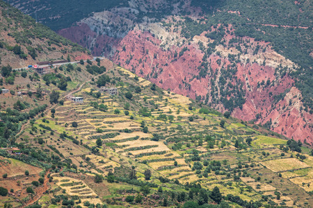 mountainscape: The high atlas mountains in morocco Stock Photo